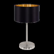 Textil. EGLO asztali lámpa E27 60W fekete Maserlo