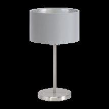 Textil. EGLO asztali lámpa E27 60W szürke Maserlo