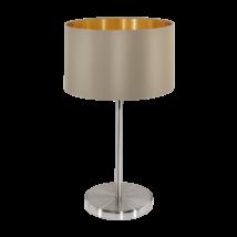 Textil. EGLO asztali lámpa E27 60W szübarna Maserlo
