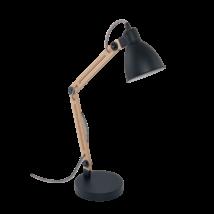 EGLO asztali lámpa E14 60W fekete/natúr TORONA 1