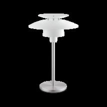 EGLO asztali lámpa E27 60Wfehér/mattnikkel Brenda