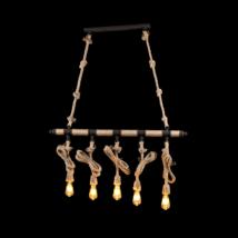 Rope Csillár  5Xe27 L1030Mm Barna/Rusztikus - Elmark