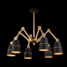 Spider Csillár 6Xe27 Fekete -Elmark