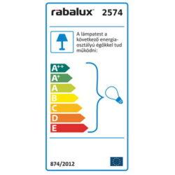 Dusan függeszték E27 max40W szürke+arany - Rábalux