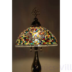 Loop Mozaik Tiffany asztai lámpa -Arany - 62 cm magas