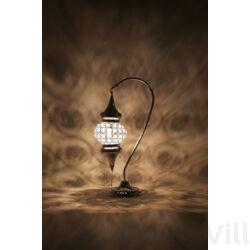 Loop Mozaik Kristályköves  - hattyúnyakú asztali lámpa