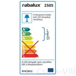 Nyssa mennyezeti lámpa LED 12W króm - Rábalux