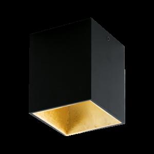 Eglo - Led Mennyezeti . 1X3,3Wfekete/aranypolasso