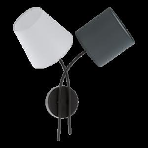 Eglo Fali Lámpa E14 2X40W Fek/Színes Burákalmeida