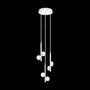 Ledeglo Függeszték 6X2,2W Fehér/krómolindra
