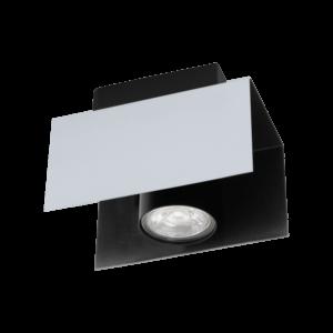 Mennyezeti  Gu10Eglo - Led 1X5W Fehér/Feketeviserba