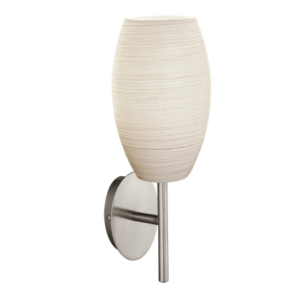 Eglo Fali Lámpa E27 1X40Wmattnikkel/Fehérbatista3