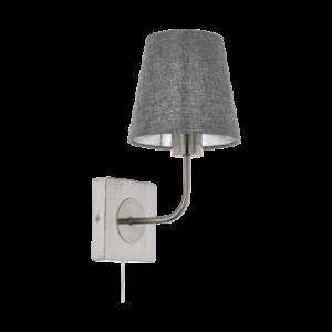 Eglo Fali Lámpa E27 1X40W szürke Pausia