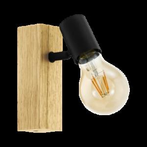 Eglo Fali Lámpa E27 10W Tölgy/Fekete Townshend 3