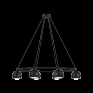 Eglo Csillár  E14 6X40W Fekete Cantallops - Óriás Lámpa