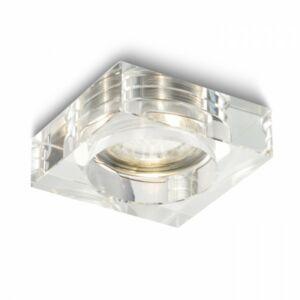 BIANCA SQ süllyesztett lámpa  tiszta üveg 230V GU10 50W