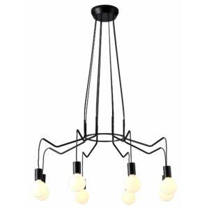 Candellux- BASSO függesztett lámpatest- 8x40W- fekete