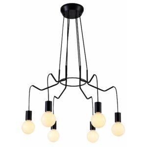 Candellux- BASSO függeszték lámpa 6x40W- fekete