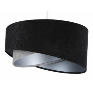 Bps - Galaxy - Aszimmetrikus  Függeszték lámpa - 50 cm - fekete/szürke/ezüst bársony