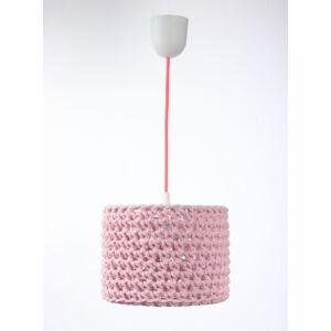 Bps - ARIADNA horgolt függeszték lámpa, 25cm- rózsaszín