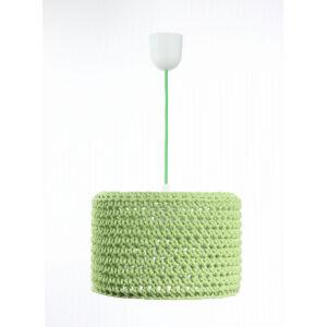Bps - ARIADNA horgolt függeszték lámpa, 25cm- zöld