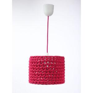 Bps - ARIADNA horgolt függeszték lámpa, 25cm- piros