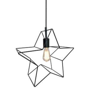 Candellux - GWIAZDKA függesztett lámpa, 1x60W- fekete