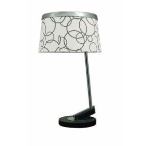 Impresja asztali lámpa ArtDeco stílusú E27 fehér/króm Candellux-41-45372