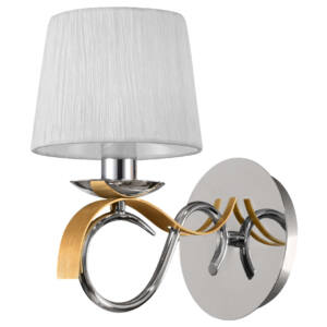 DENIS Fali lámpa 1X40W E14 Króm / Arany