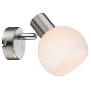 MAURO Fali lámpa 1X4W E14 LED RGB Szatén Nickel With remote control