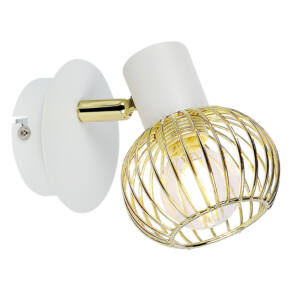 OSLO Fali lámpa 1X40W E14 Fehér- / Arany