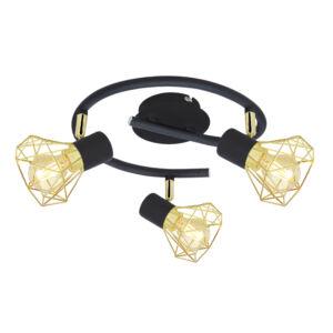 VERVE Spiral Mennyezeti 3X40W E14 Fekete Lampshade Arany