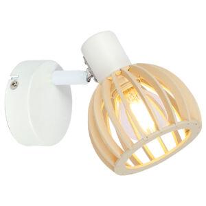 ATARRI Fali lámpa 1X25W E14 Fehér- Wood