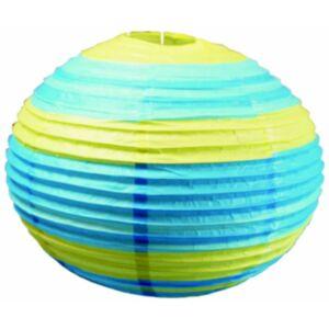 Kokon színes papír gömb kék-zöld  függeszték 50 cm E27-Candellux