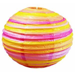 Kokon színes papír gömb narancssárga-rózsaszín  függeszték 50 cm E27-Candellux