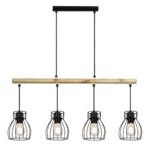 Candellux- BERNITA függeszték lámpa, 4x60W-fekete
