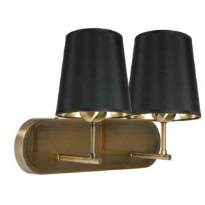 Candellux- MILONGA fali lámpa 2x60W- fekete