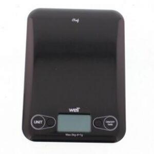 ECG Well Digitális konyhai mérleg - fekete