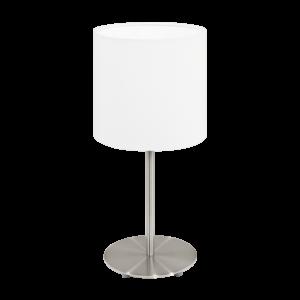 Textil. Eglo Asztali Lámpa E27 60W Fehér Pasteri