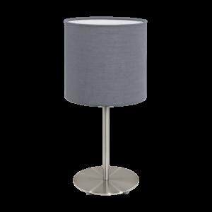 Textil. Eglo Asztali Lámpa E27 60W szürke Pasteri