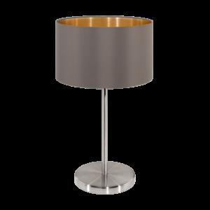 Textil. Eglo Asztali Lámpa E27 60W Cappucc. Maserlo