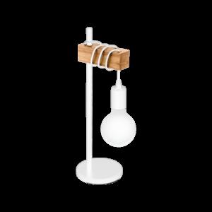 Asztali lámpa E27 1x10W fehér/tölgyTownshend