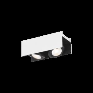 Eglo - Led Eglo - Mennyezeti Fényerőszabályozós .2X5,4W Fehér/Fekete Vidago
