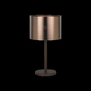 Asztali lámpa E27 1x60W barna/réz Saganto
