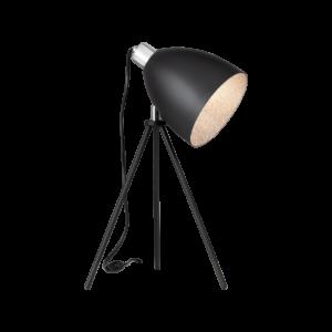 Asztali lámpa E27 1x60W fekete Mareperla
