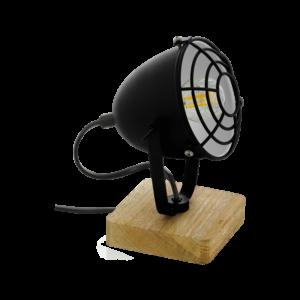 Asztali lámpa E14 40W fekete/fa Gatebeck1
