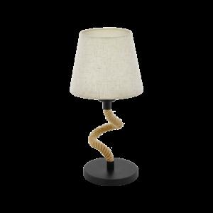Asztali lámpa E27 1x28W fekete/kötél Rampside