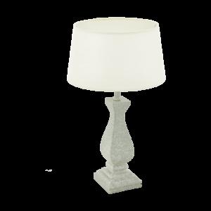 Asztali lámpa E27 1x60W fehér/beton Lapley