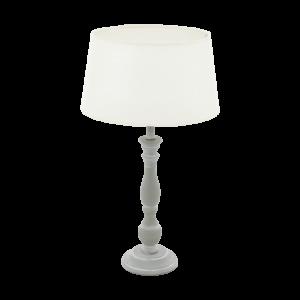 Asztali lámpa E27 1x60W szürke patina/fehér Lapley