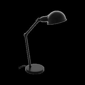 Asztali lámpa E27 1x28W fekete Exmoor